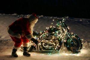 santa-biker